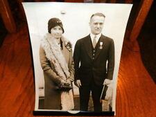 #8556,Orig.Henry Miller Photo,Deming & Mrs. Bronson Medal Honor Recepient,1929