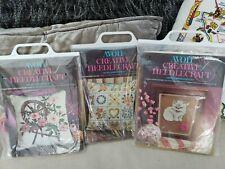 Lot of 3 Avon Creative Needlecraft Crewel Embroidery Kits New!