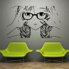 Wall Decal Anime Japan Movie Cartoon Tears Sorrow Glasses Braid M859