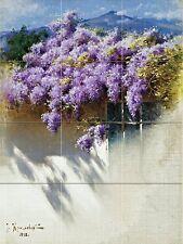 Landscape. Wisteria in bloom Kitchen Bathroom Wall Backsplash Ceramic 12.75x17