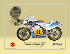 Print on canvas Suzuki RG500 1981 #11 Jack Middelburg (NED) #7 Golsteyn 40 x 30