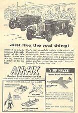 Airfix 1/72 Scale Blackburn Buccaneer & 1930 Bentley Advert - Original 1960