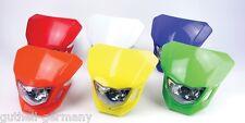 Lampenmaske Enduro Scheinwerfermaske Halogen Acrylglas 12V 35/35W