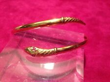 Vintage 9 ct Kt Carat Gold Snake Bangle With Ruby ? Eyes