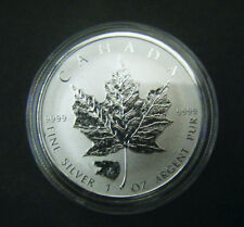 2016 Canada $5 1oz Grizzly Privy Mark Silver Maple Leaf coin Wild life series
