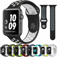 40/44/38/42mm Silicone Sport Band Strap for Apple Watch SE iWatch Series 6 5 4 3