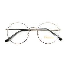 Nerd Brille filigran rund Glasses Klarglas Hornbrille treber tom retro 15R30 SIL