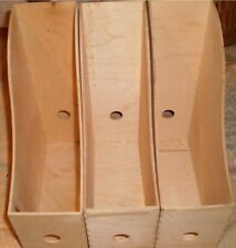 Set Of 3 Hand Made Wooden File Organizer Unfinished Unpainted Plain File Stora