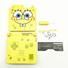 GBA SP Game Boy Advance SP Housing Shell GLASS Screen Lens Spongebob Yellow
