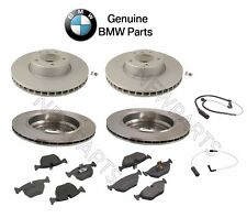 For BMW E39 530i 540i Front+Rear GENUINE Disc Brake Rotors Pads & Sensors KIT