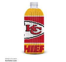 Kansas City Chiefs Fabric Bottle Cooler NFL Football Knit
