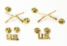 """Insignes d'officier US """"Infanterie / Airborne"""" US ARMY WW2  (matériel original)"""