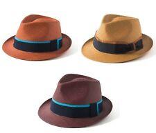 85edb7766f4d9d Failsworth Coloured Toquilla Straw Trilby Hat Made In Ecuador