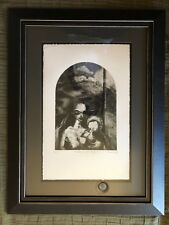 Madonna and Child Etching Signed & limited - Dark Gothic Alien tone