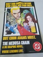 "THE MEDUSA CHAIN DC GRAPHIC NOVEL PROMO POSTER 14"" x 22"" DC COMICS 1984 UNUSED!"