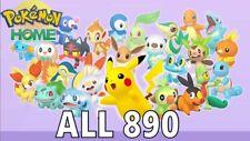 All 1300+ Shiny Pokemon Living Pokedex Pokémon Home and Sword / Shield (Gen 1-8)
