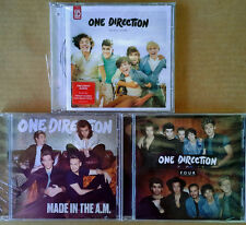 ONE DIRECTION - MADE IN A.M., UP ALL NIGHT, FOUR - (3) CD'S - ONE LOT - SEALED