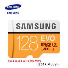 Original SAMSUNG EVO Memory Card Micro SD TF Card 128GB Class10 U3 4K HD 100MB/s
