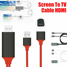 3.28ft USB MHL to HDMI 1080p Cable TV Out Lead for IOS iPhone Phones