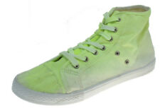 Mossimo Supply CO Womens Neon Yellow High Top Canvas Fashion Sneakers Sz 10
