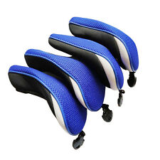 4pcs Golf Hybrid Club Head Cover with Interchangeable No.Tag UT Headcover Rescue