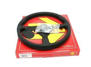 MOMO Montecarlo Leather Steering Wheel Black Stitching 350mm NEW