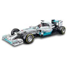 BBURAGO 1:32 F1 2014 MERCEDES AMG Lewis Hamilton Auto Modello Diecast Metal