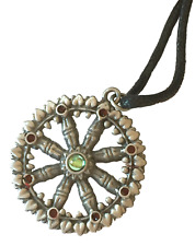 Briar Dharma Étain Symbolique Pendentif Breloque, Dharma Roue, Eightfold Path