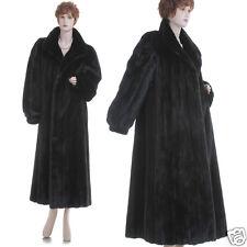 Mint! L! Magnificent Black Mahogany Female Mink Fur 50 in. F/L Swing Coat
