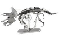 Fascinations Metal Earth Dinosaur Triceratops Skeleton 3D Laser Cut Model Kit