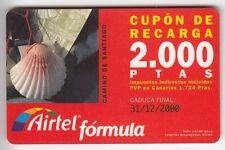 Europe telecarte/phonecard... spain 2.000p airtel seashell shell # +12/00