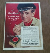 Vintage Lucky Strike Cigarettes featuring Gary Cooper
