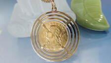 GOLD MÜNZANHÄNGER 750/900 / 11,45 Gramm / 20 FR 1922 Vreneli Helvetia Schweiz