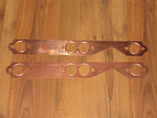 1955 - 91 SB Chevy V8 Round Port Copper Header Exhaust Gaskets Reusable WP4003-1