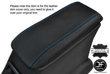 BLUE STITCHING ARMREST LID LEATHER COVER FITS FORD CORTINA MK5 CRUSADER