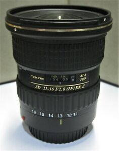 Tokina atx-i 11-16mm f2.8 Lens for Canon EF DSLR cameras