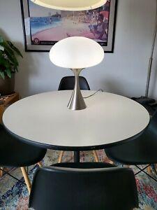 Vintage Mid Century Mod Laurel Mushroom Stainless lamp