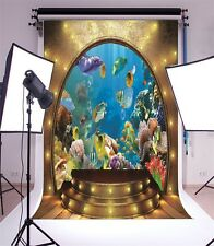 5x7ft Aquarium Scene Vinyl Photo Background Studio Theme Photography Backdrop