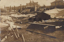 WW1 panoramic view of wrecked Royal Engineers Canteen Morfa Camp 1916