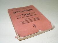 altes Liederheft, Gesangsbuch, 1100 Liederwerke, Sammlung