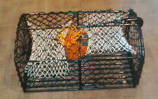 "8MM STEEL - 24"" TWIN ENTRANCE LOBSTER CRAB POT WITH RIGGINGS BARS AND BAIT BAG"