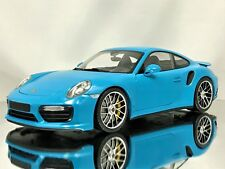 Minichamps Porsche 911 (991 II) MKII Turbo S 2016 Miami Blue Model Car 1:18