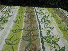 Vtg Barkcloth Drape Curtain Fabric Hawaiian Tropical Green Bronze Leaves 8 yards