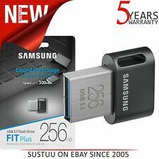 Samsung FIT Plus 256GB USB 3.1 Flash Stick Pen Memory Drive Upto 200MB/s - Black