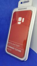 GENUINE Samsung Galaxy S9 Hyperknit Fabric Qi Case Cover Official Red NEW