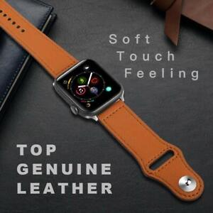 Genuine Leather iWatch Strap for Apple Watch Band Series 6 5 4 3 2 44/42/40/38mm