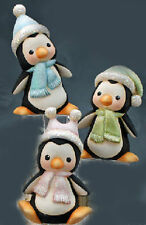 """Ceramic Bisque Ready to Paint (3) Penguins """"Happy""""  """"Slipping"""" and """" Sliding"""""""