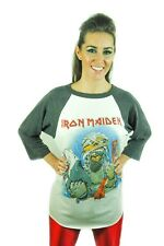 Iron Maiden shirt 1985 Vintage Concert shirt California Invasion Tour RARE L
