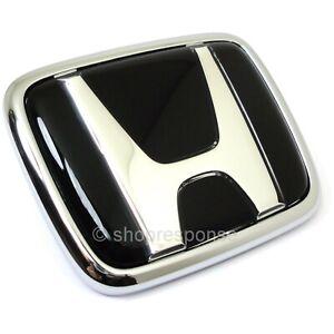 OEM Honda 00-09 S2000 AP1 AP2 Front Black H Emblem Badge 75700-S2A-000ZB JAPAN