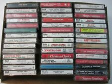 Lot of 43 Assorted Christmas Cassette Tapes Multiple Genres Country  Elvis Perry